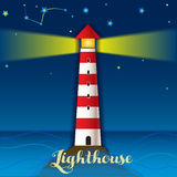 Lighthouse and boat Stock Photography
