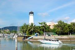 Lighthouse at Boat Lagoon Marina Royalty Free Stock Photo