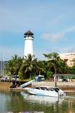 Lighthouse at Boat Lagoon Marina Royalty Free Stock Photography