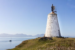Lighthouse and boat Royalty Free Stock Photo