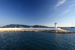 Lighthouse in Bodrum stock photography