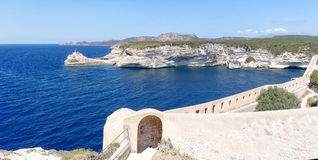 The Lighthouse of Bonifacio Stock Images