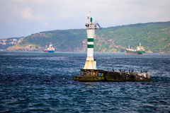 Lighthouse on the Bosphorus Strait Royalty Free Stock Photography