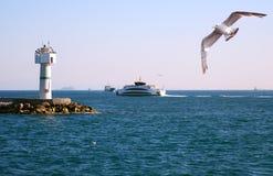 Lighthouse In Bosporus Royalty Free Stock Image