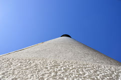 A Lighthouse, from the bottom up. A photo of the outside of a lighthouse looking up Stock Photos