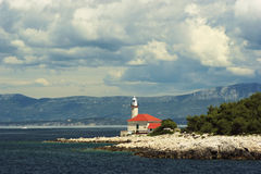 Lighthouse on Brac island Croatia Royalty Free Stock Images