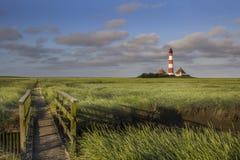 Lighthouse and Bridge Stock Photography