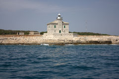 Lighthouse in the Brion Islands Royalty Free Stock Image