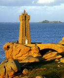 Lighthouse in Brittany Royalty Free Stock Images