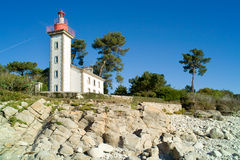 Lighthouse in brittany Stock Photography