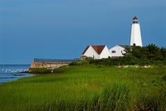 Lighthouse Built On Connecticut Marshland royalty free stock photos