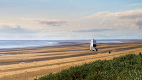Lighthouse at Burnham-on-Sea during low tide Royalty Free Stock Image