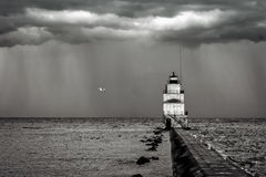 Lighthouse BW Royalty Free Stock Photography
