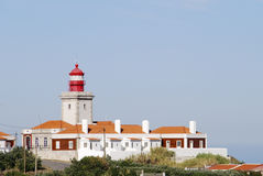 Lighthouse in Cabo da Roca Royalty Free Stock Photo
