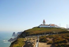 Lighthouse in Cabo da Roca Stock Photography