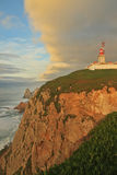 Lighthouse on Cabo da Roca Stock Image