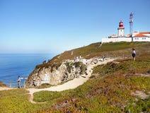 Lighthouse, Cabo da Roca, Ocean Cape, Portugal Stock Image