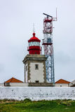 Lighthouse Cabo da Roca in Portugal Royalty Free Stock Photography