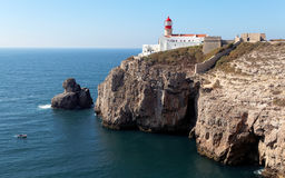 The lighthouse in Cabo da Roca Stock Photos
