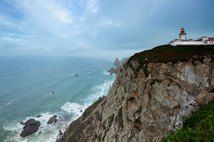 Lighthouse at the  Cabo Da Roca, Portugal Stock Image