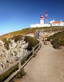 Lighthouse Cabo da Roca, Portugal Royalty Free Stock Photos
