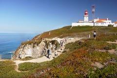 Lighthouse, Cabo da Roca, Portugal stock photo