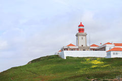 Lighthouse at Cabo da Roca, Portugal Stock Photo