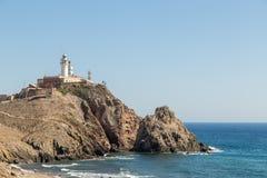 Lighthouse at Cabo de Gata, Spain Royalty Free Stock Photo
