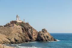 Lighthouse at Cabo de Gata, Spain Royalty Free Stock Photo