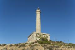 Lighthouse in Cabo de Palos. Lighthouse - La Manga del Mar Menor, Cabo de Palos, Cartagena and San Javier, Murcia, Spain, Europe Royalty Free Stock Photos