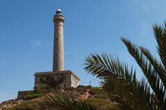 Lighthouse of Cabo de Palos. In Murcia, Spain Royalty Free Stock Photo