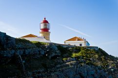 Lighthouse of Cabo de São Vicente, Algarve Stock Images