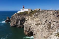 Lighthouse at Cabo de Sao Vicente, Sagres Royalty Free Stock Photo