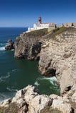Lighthouse at Cabo de Sao Vicente, Sagres Royalty Free Stock Image