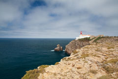 Lighthouse of Cabo de Sao Vicente, Sagres,Algarve,Portugal (buil Stock Images