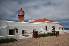Lighthouse of Cabo de Sao Vicente, Sagres,Algarve,Portugal Royalty Free Stock Photos