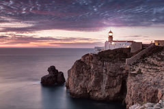 Lighthouse Cabo de Sao Vincente Stock Photography