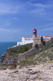 Lighthouse of Cabo do Sao Vicente Cape Vincente Royalty Free Stock Images