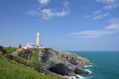 Lighthouse of Cabo Mayor Royalty Free Stock Images