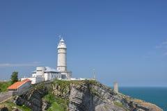 Lighthouse of Cabo Mayor Stock Photo