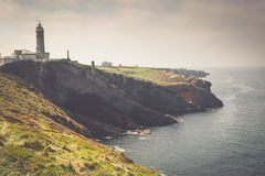 Lighthouse of Cabo Mayor. Santander. Royalty Free Stock Photo