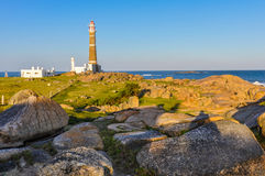 The lighthouse in Cabo Polonio, Uruguay Royalty Free Stock Photography