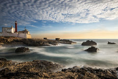 Lighthouse in Cabo Raso, Portugal. Lighthouse in Cabo da Roca, Cascais, Portugal Stock Images