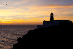 Lighthouse of Cabo Sao Vicente, Portugal at Sunset Royalty Free Stock Photo