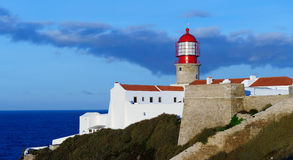 Lighthouse Cabo Sao Vicente, Sagres, Portugal Royalty Free Stock Photos
