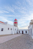 Lighthouse of Cabo Sao Vicente, Sagres, Portugal Royalty Free Stock Image