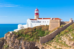 Lighthouse of Cabo Sao Vicente, Sagres, Portugal stock photo
