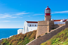Lighthouse of Cabo Sao Vicente, Sagres, Portugal royalty free stock photos