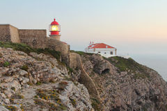 Lighthouse at Cabo Sao Vincente Stock Photography