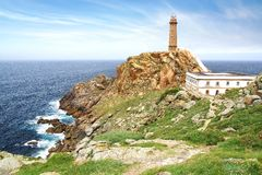Lighthouse Cabo Vilan. Royalty Free Stock Photos